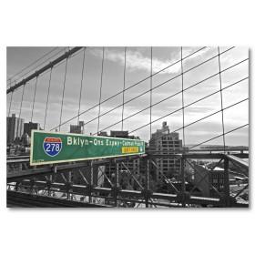 Αφίσα (μαύρο, λευκό, άσπρο, γέφυρα)